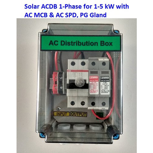 Solar AC Distribution Box (ACDB) 2- Samptel Energy