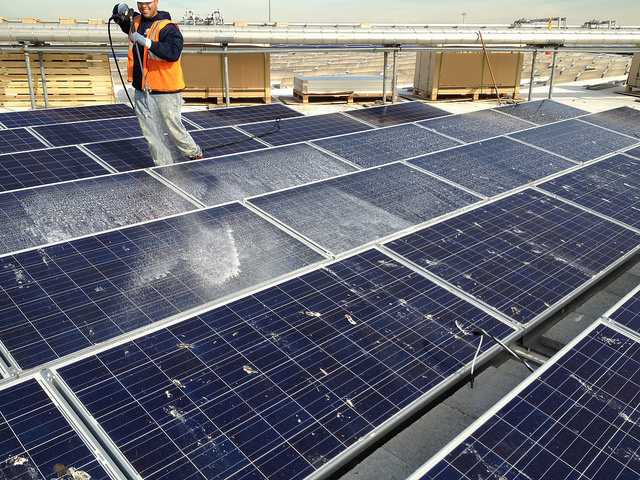 Solar Panel Cleaning Service - Samptel Energy